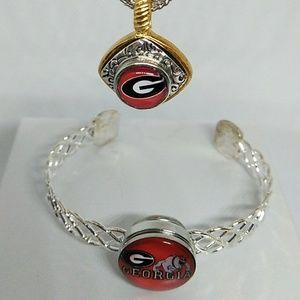 Georgia Bulldogs Necklace Set